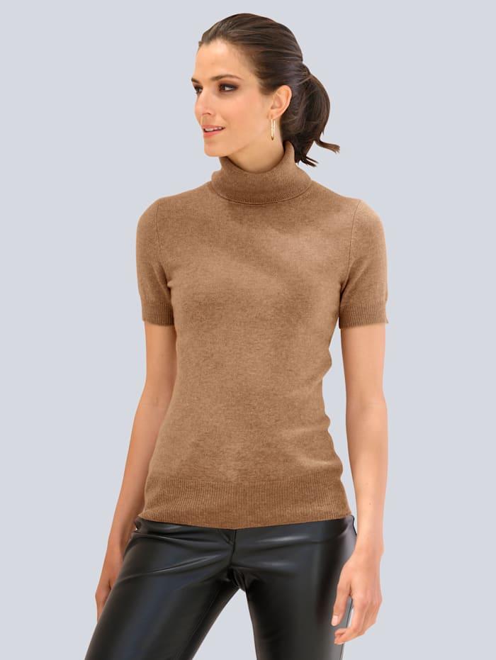 Alba Moda Pullover aus hochwertiger reiner Kaschmirqualität, Braun