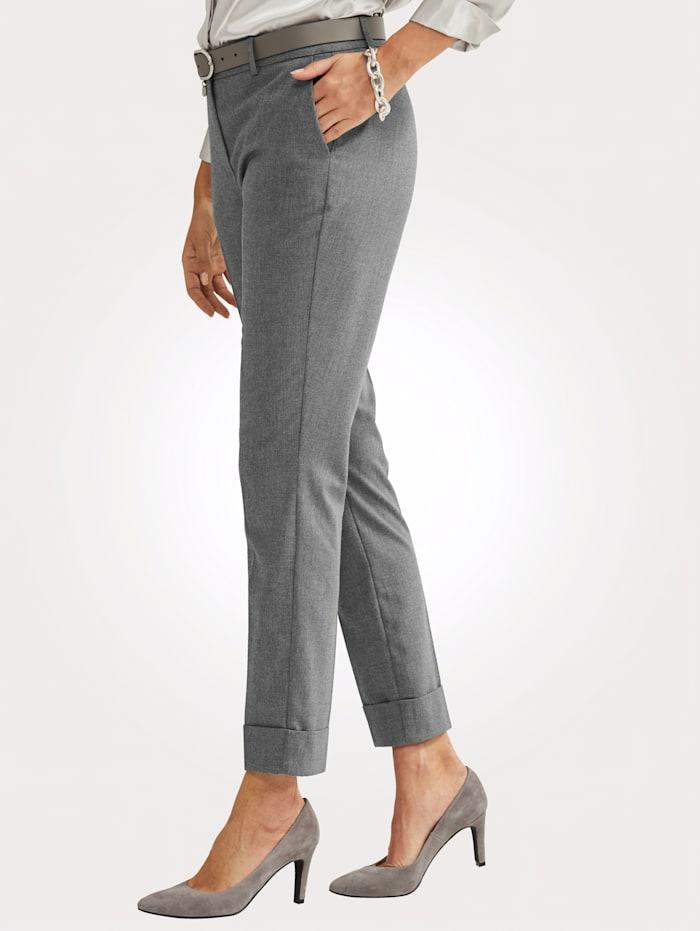 Pantalon au toucher laineux