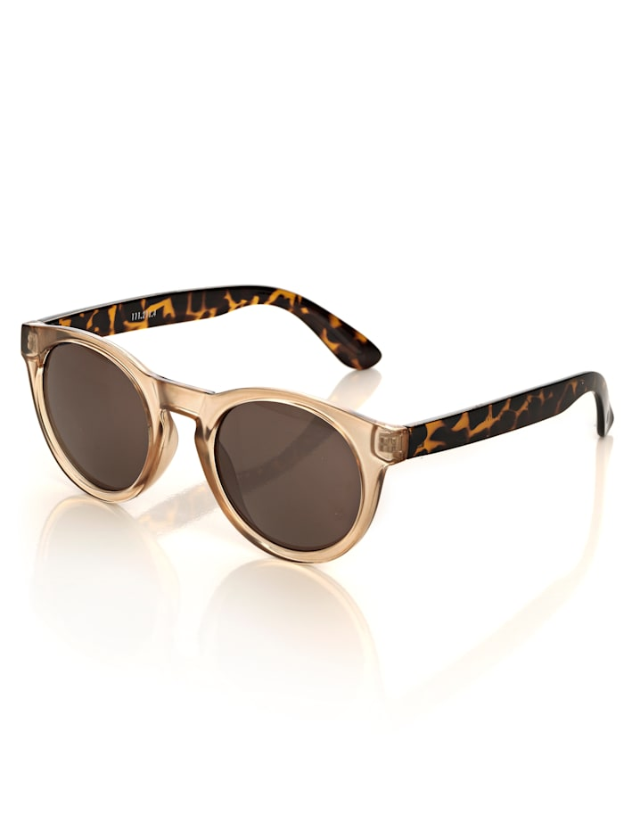 Alba Moda Sonnenbrille mit Bügeln im Leomuster, nude/animal