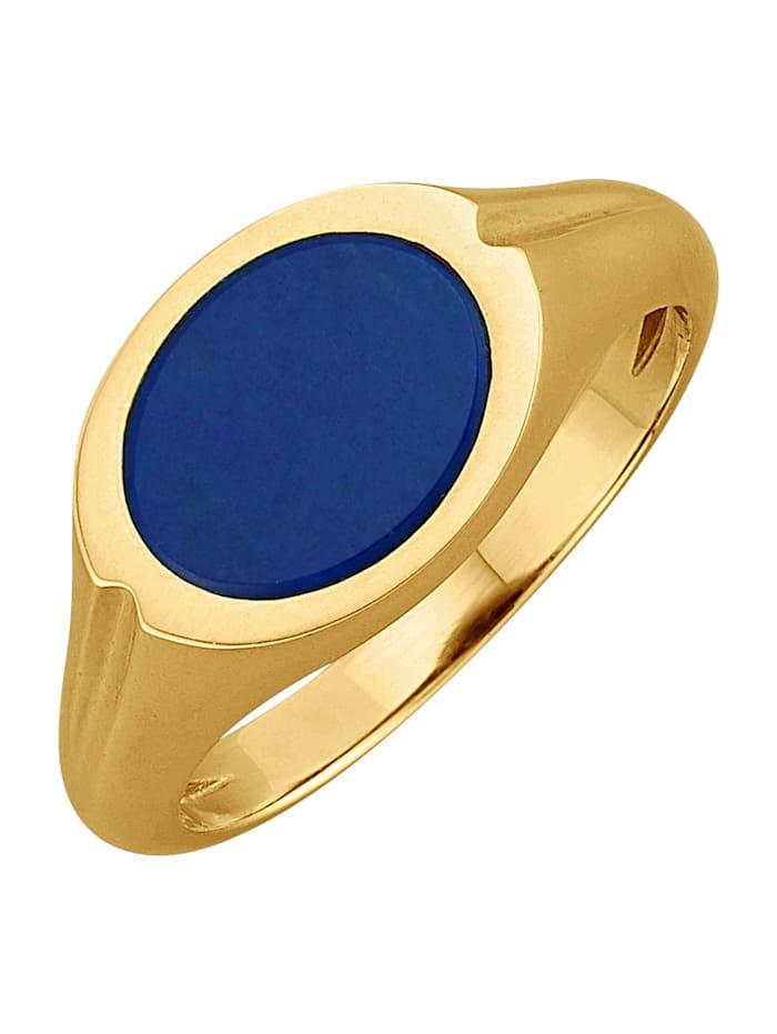 Klackring i 9 k guld, Blå