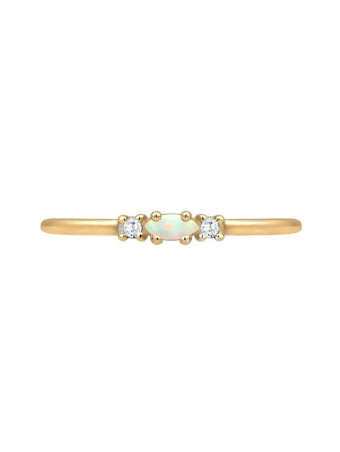 Ring Vintage Opal Zirkonia 925 Sterling Silber