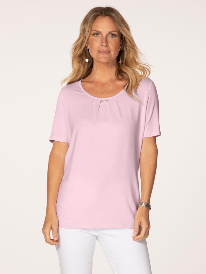 MONA Shirt aus Feinjersey, Rosé