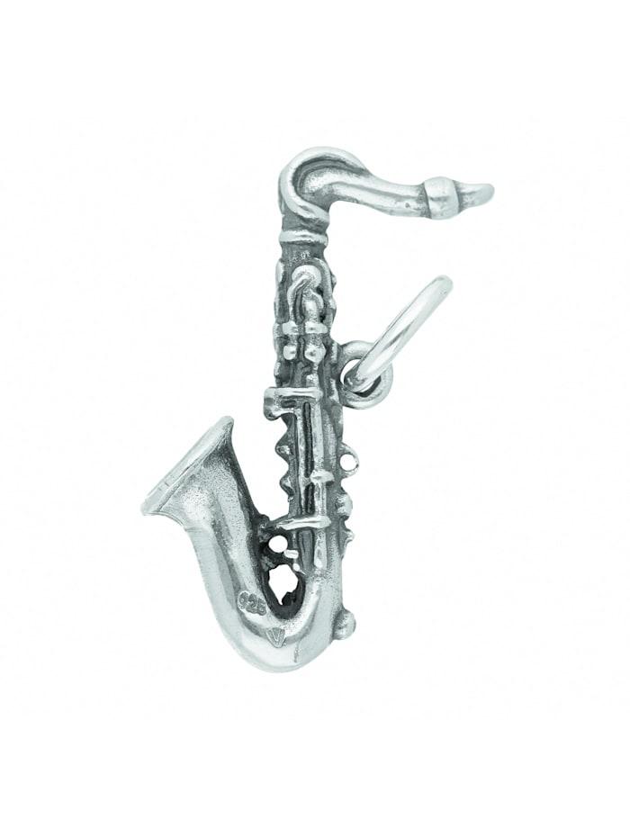 1001 Diamonds Damen Silberschmuck 925 Silber Anhänger Saxophon, silber