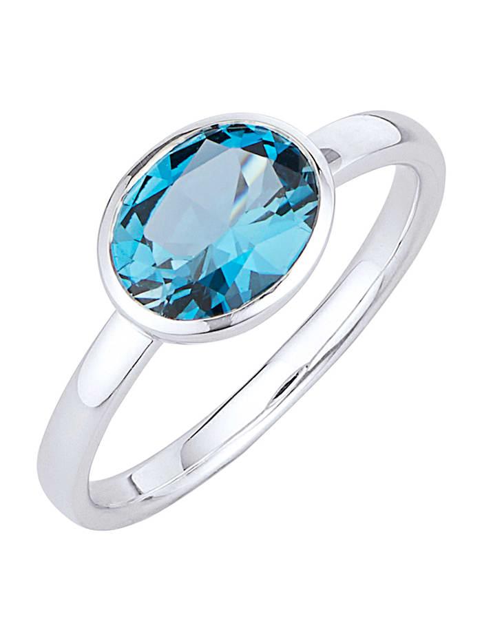 Diemer Highlights Ring med London blue-topas, Blå