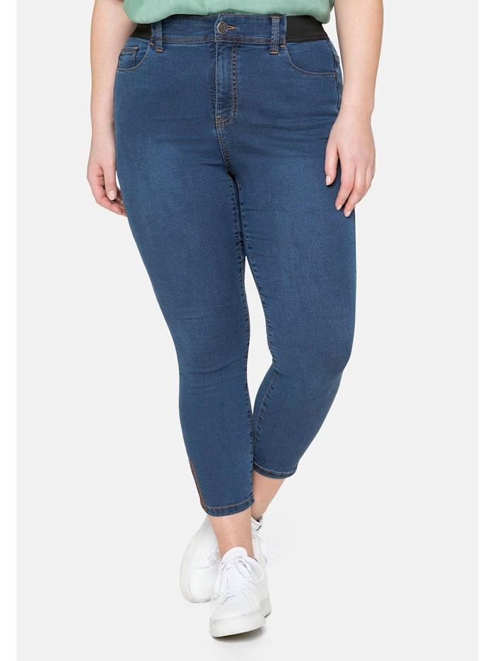 Sheego Jeans in 7/8-Länge, »Ultimate Stretch«, wächst bis 3 Gr. mit, blue Denim