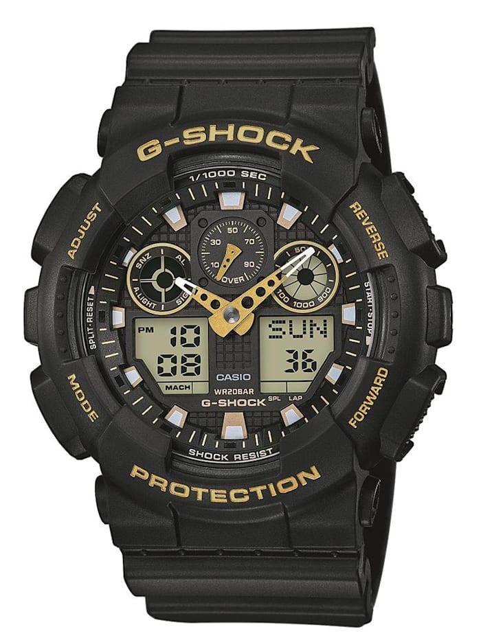 Casio Herrenuhr-Chronograph G-Shock Original GA-100GBX-1A9ER, Schwarz