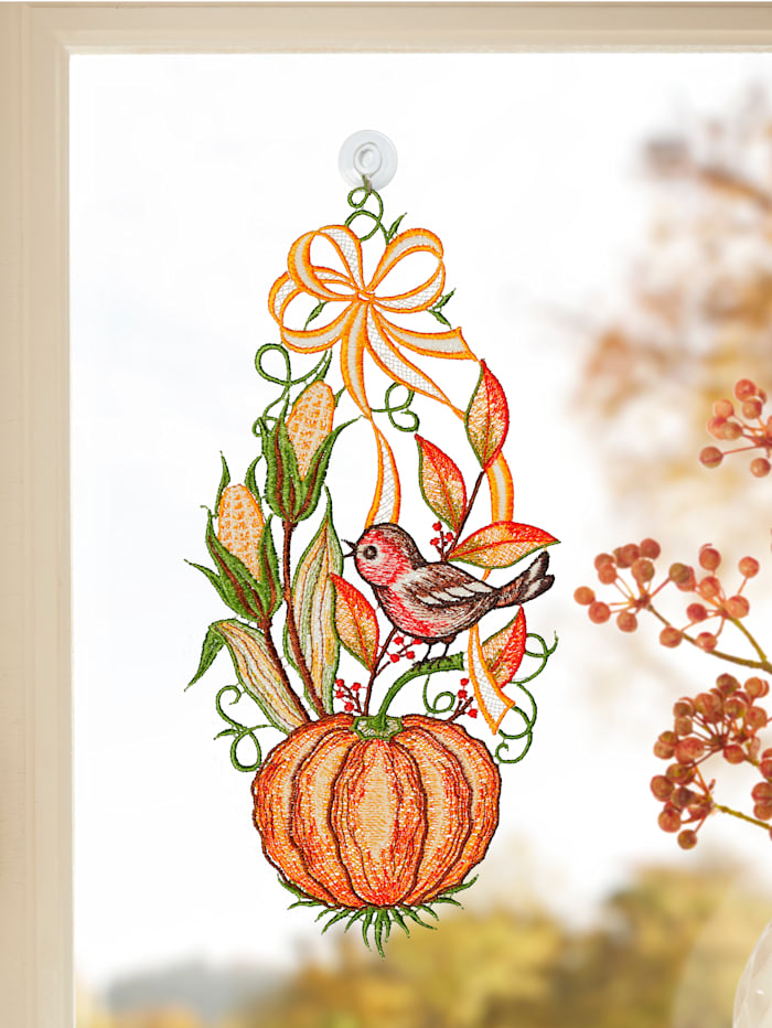 Raebel Décoration de fenêtre 'Citrouille', Multicolore