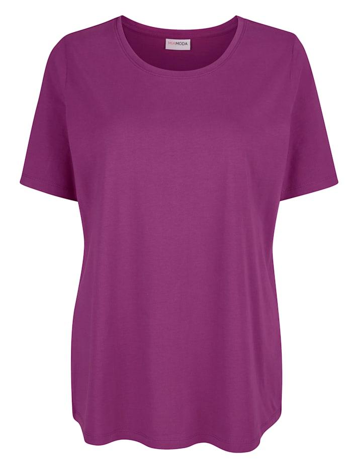 MIAMODA Shirt mit Rundhalsausschnitt, Cyclam