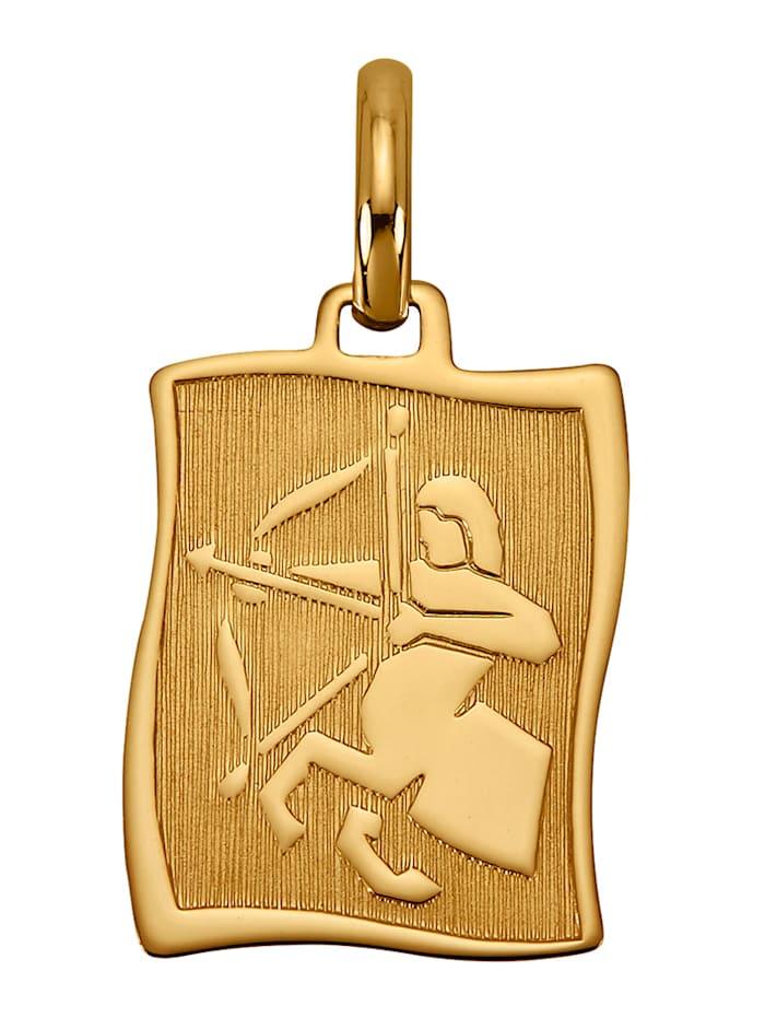 Diemer Gold Sternzeichen-Anhänger 'Schütze' in Gelbgold 585, Gelbgoldfarben