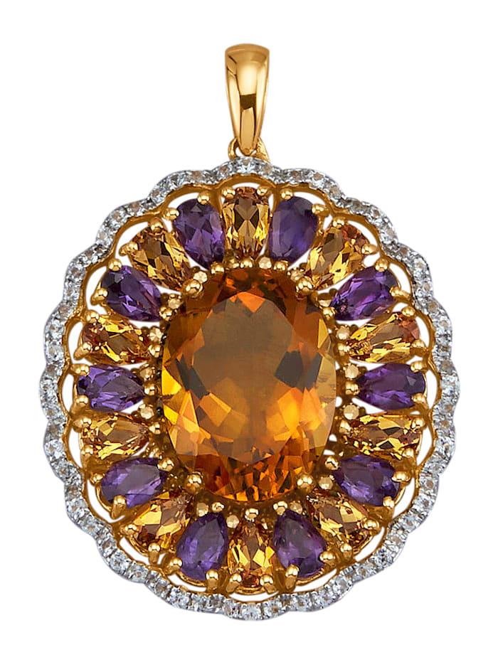 Diemer Farbstein Hänge i guld 14 k, Flerfärgad
