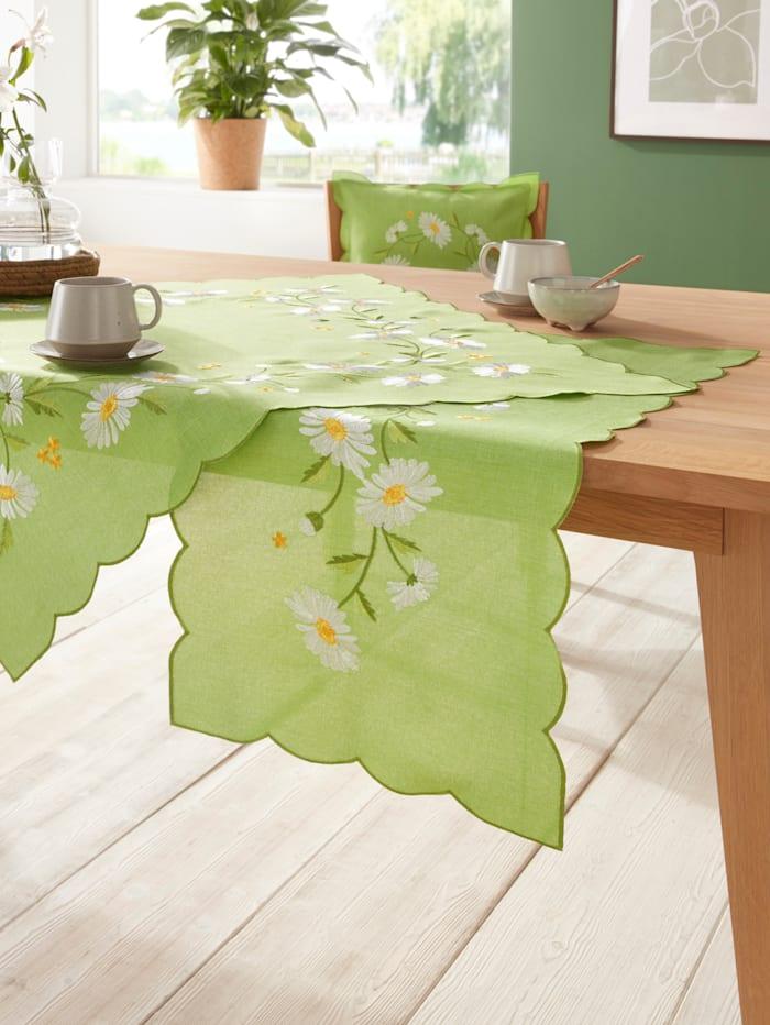 """Webschatz Linge de table """"Frieda"""", Vert/multicolore"""