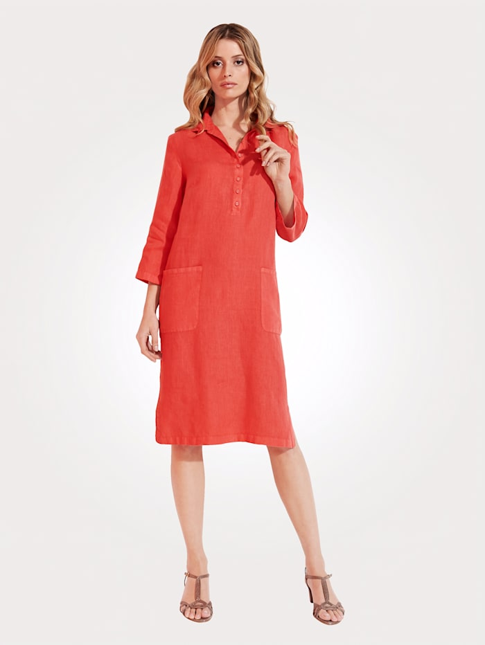 Dress made from pure linen