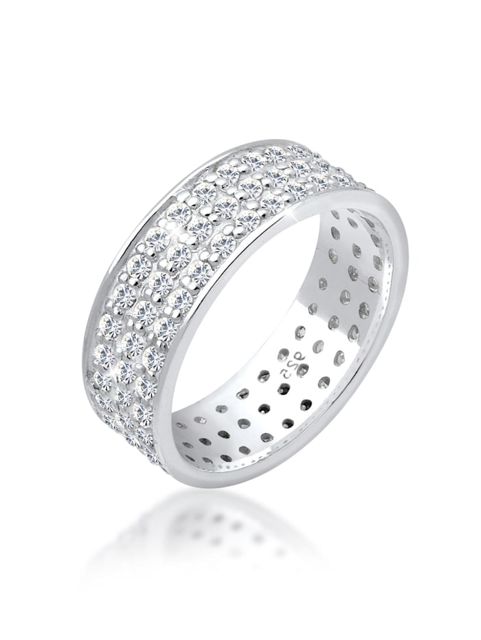 Elli Ring Ring Kristalle 925 Sterling Silber, Weiß