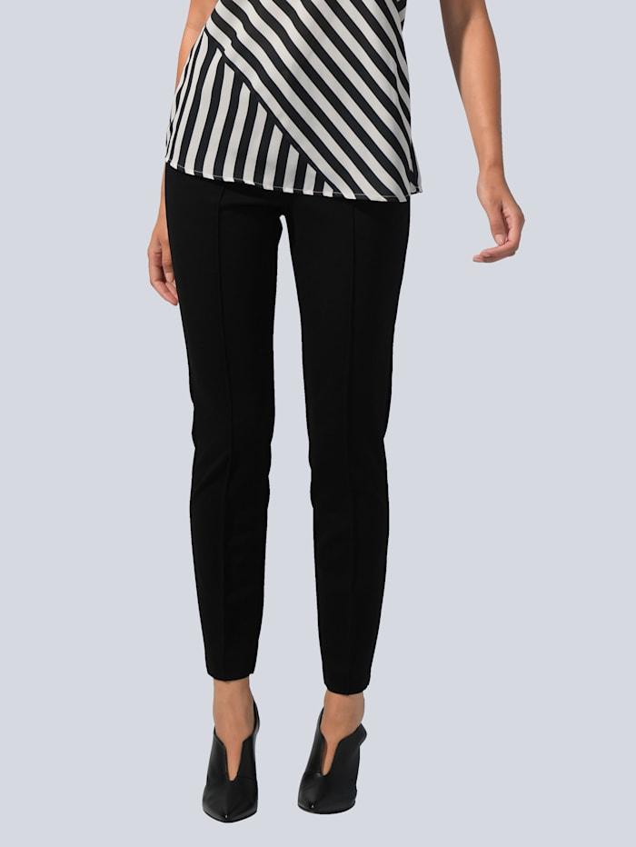 Alba Moda Hose in modisch schmal zulaufender Form, Schwarz