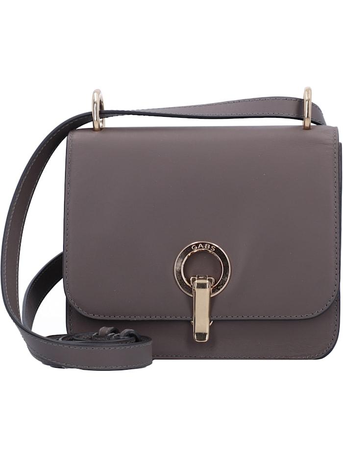 Gabs Michelle Mini Bag Umhängetasche Leder 18 cm, warm gray