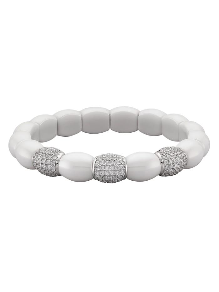 Jacques Lemans Armband mit Keramikelementen, Weiß