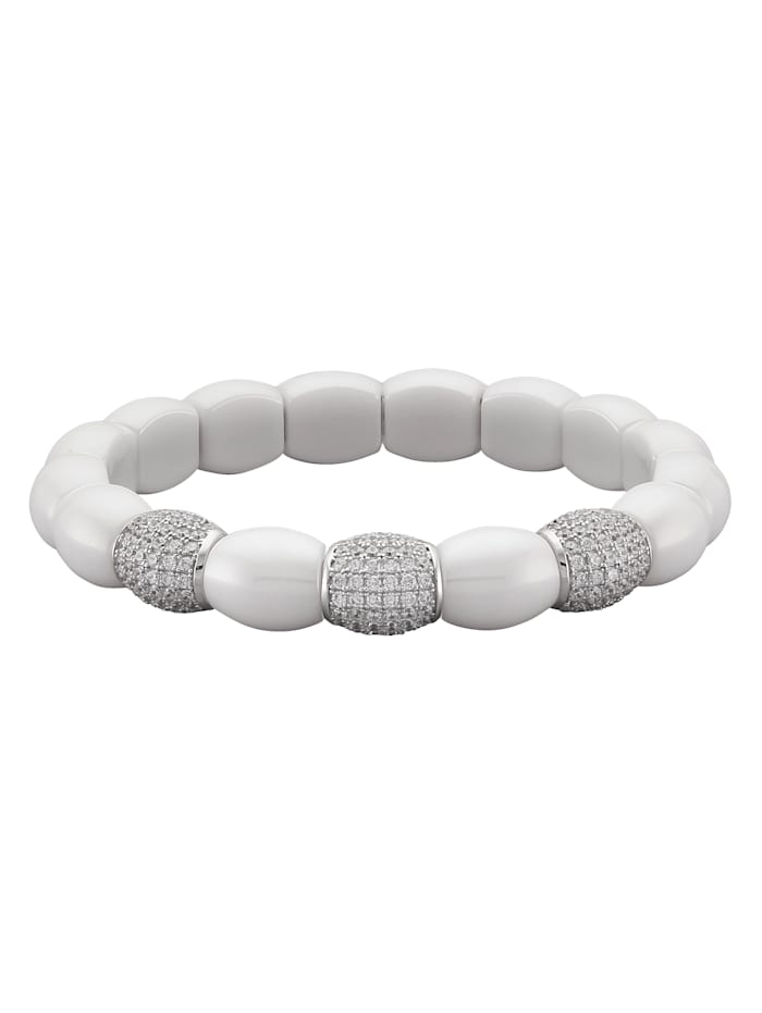 Jacques Lemans Armband met elementen van keramiek, Wit