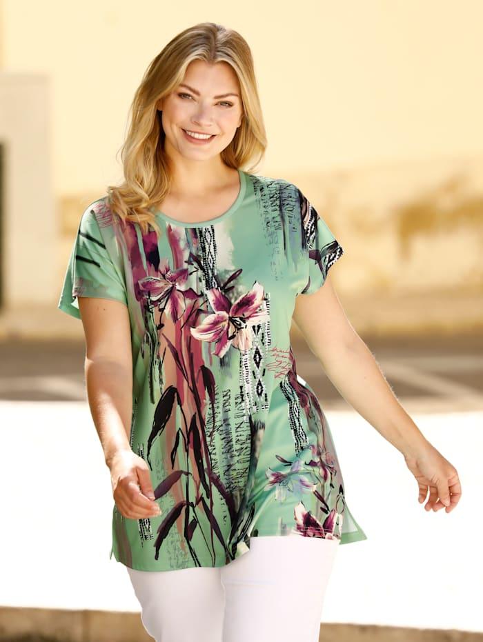 m. collection Shirt met print voor, Mint