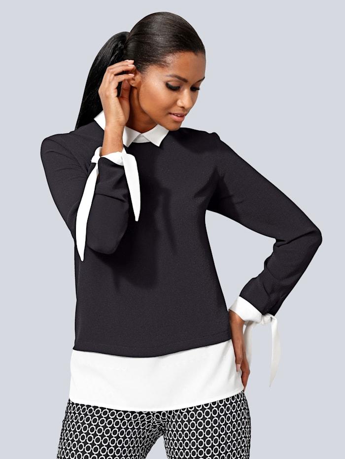 Blusenshirt im modischen Lagen-Look