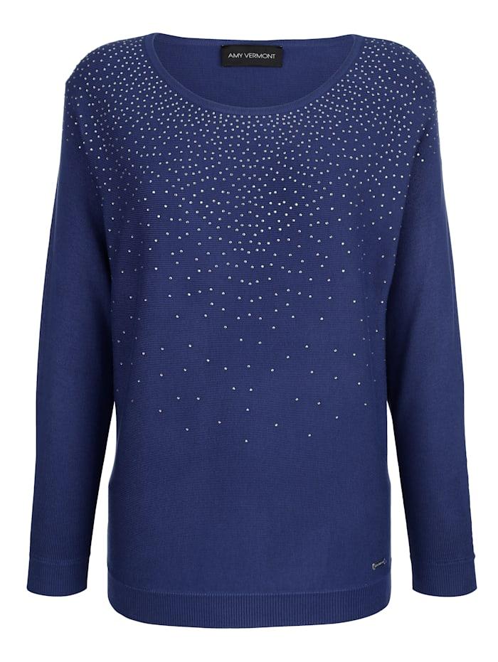 Pullover mit Strassstein-Verzierung