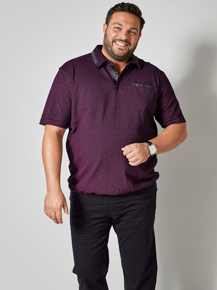 Men Plus Poloshirt Spezialschnitt, Fuchsia/Schwarz
