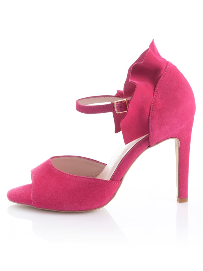 Sandalette mit Volants-Detail