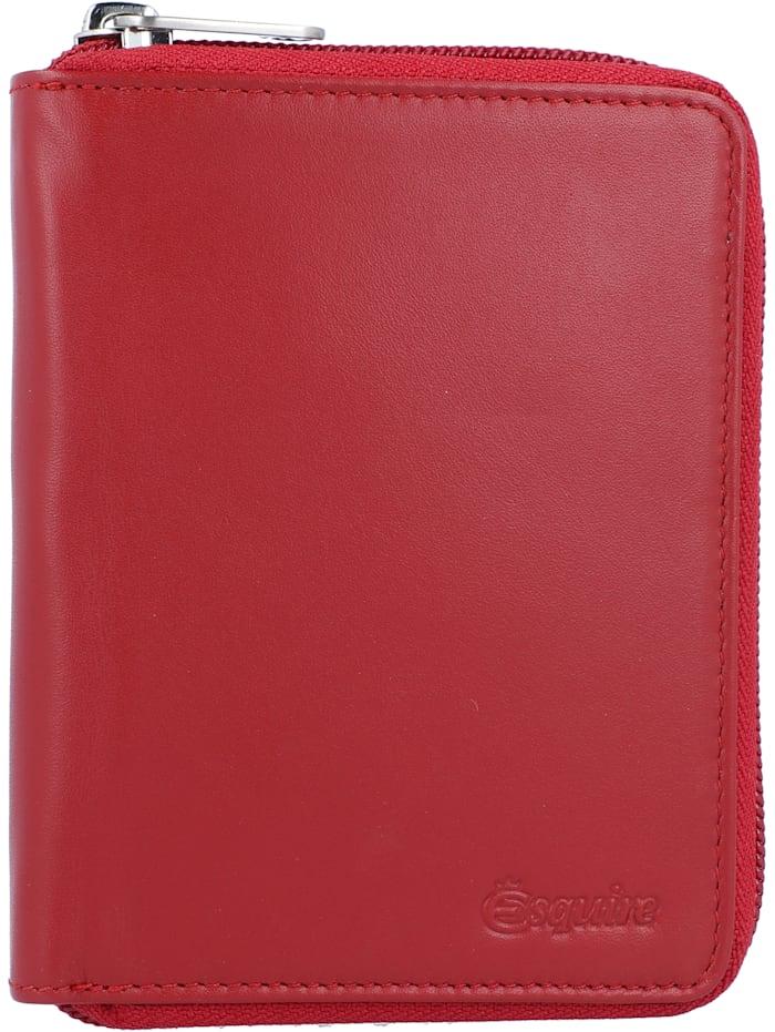 Esquire New Silk Geldbörse Leder 10 cm, rot