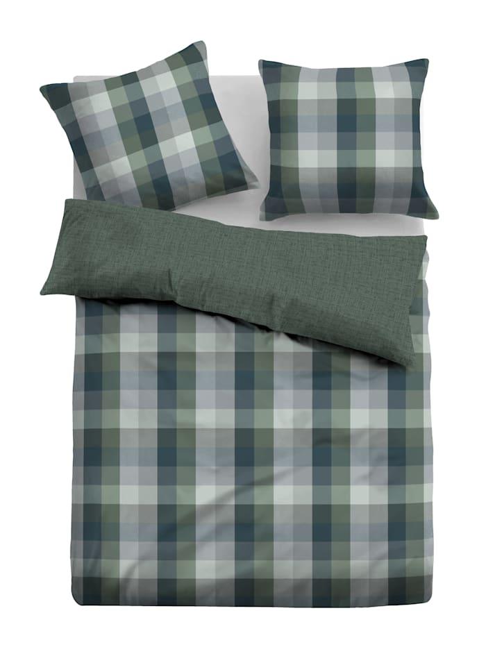 Tom Tailor Parure de lit 'Lujza' en flanelle, Wintergreen