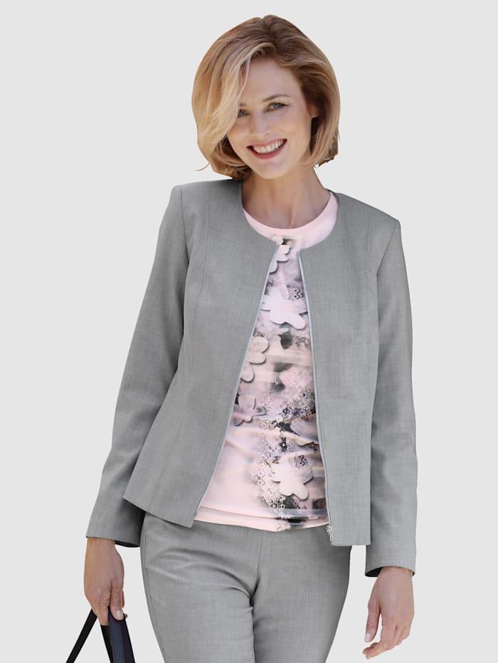 Paola Blazer mit Reißverschluss, Grau