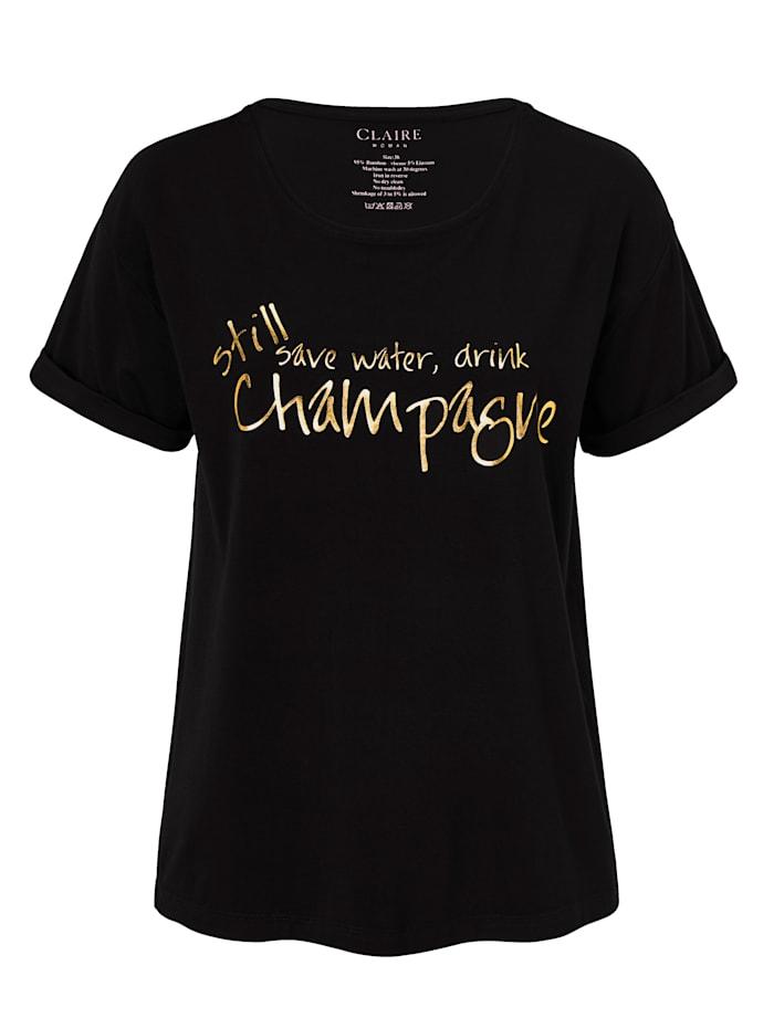 Claire T-Shirt, Schwarz