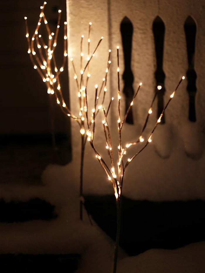 3er Set LED-Baum mit Erdspieß