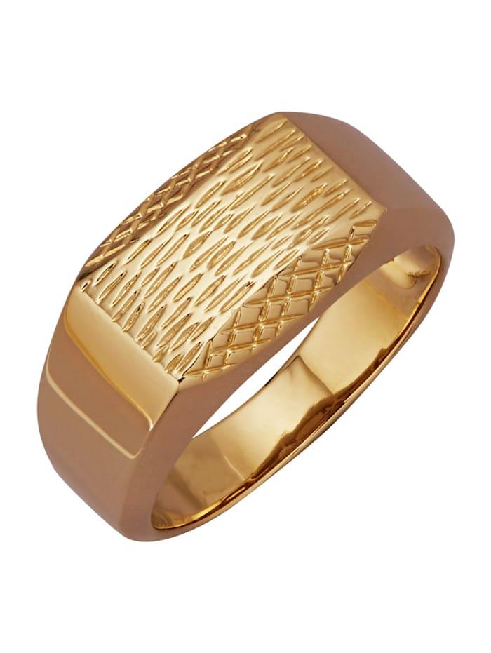 Amara Gold Herrenring in Gelbgold 585, Gelbgoldfarben