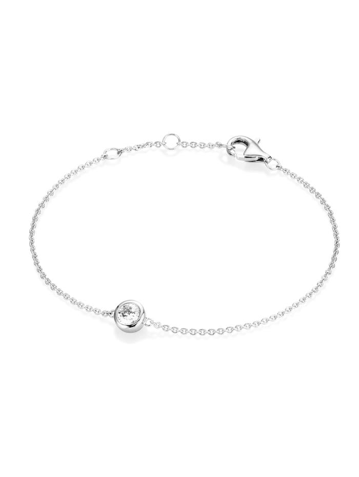 Smart Jewel Armband Zirkonia als Zwischenteil, Silber 925, Silber