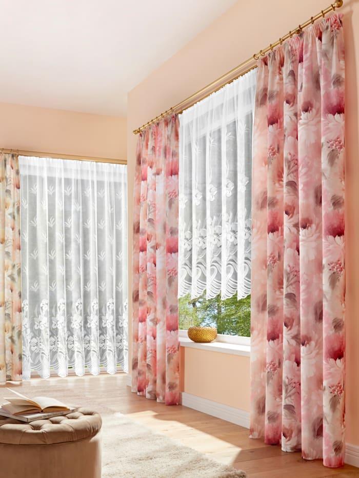 "Home Wohnideen Rideau ""Iris"", Blanc"