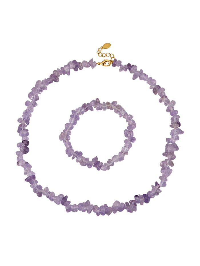 2-d. súprava šperkov s ametystom, Fialová