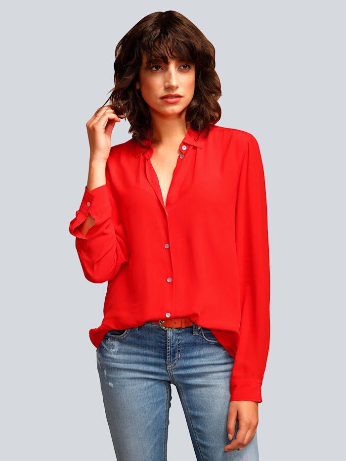 Seidensticker Schwarze Rose Bluse in toller Farbe, Rot