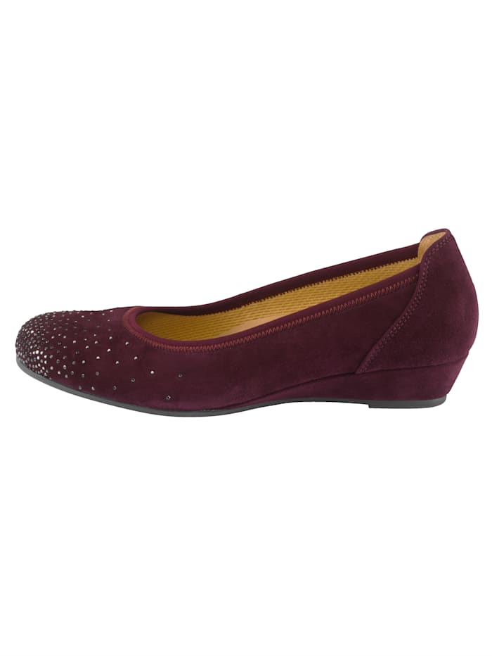Ballet Court shoes with a comfortable wedge heel