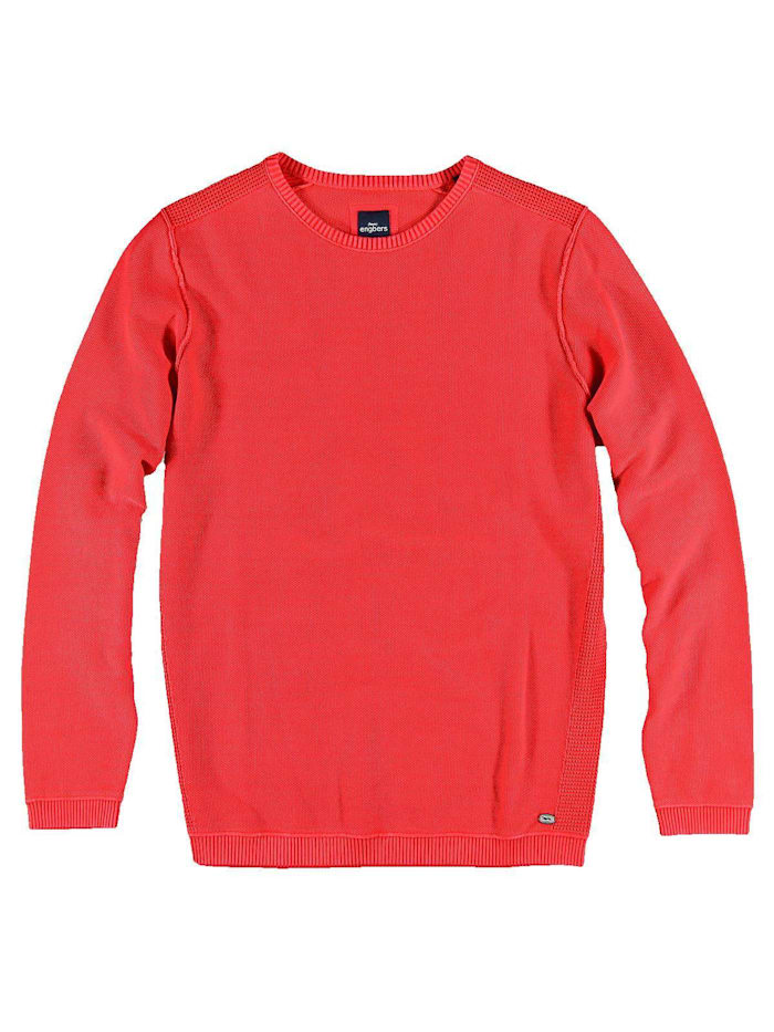 Engbers Pullover Rundhals, Tomatenrot