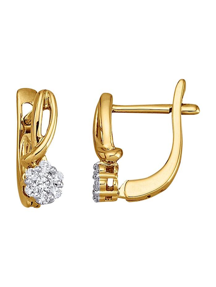 Diemer Diamant Ohrringe mit 14 Brillanten, Weiß