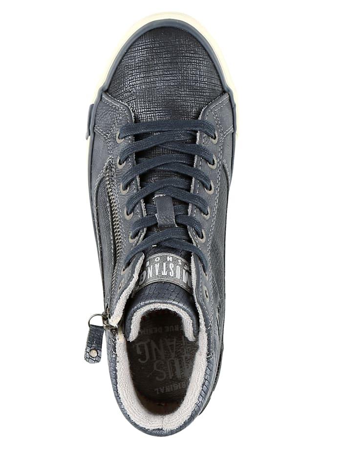 Sneaker met glanseffect