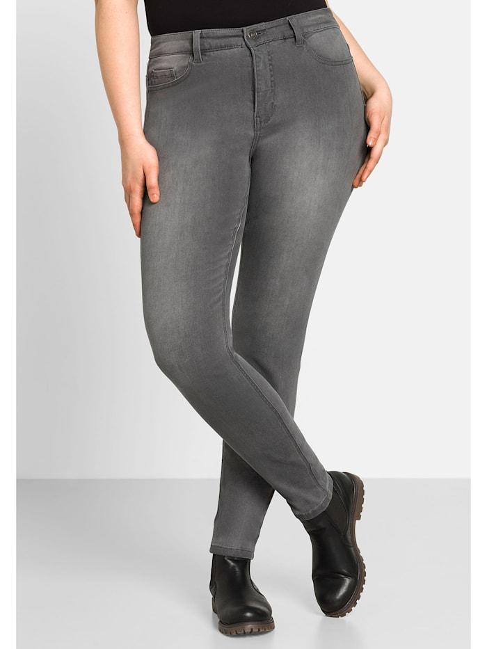 Sheego Jeans Super elastisches Power-Stretch-Material, grey Denim