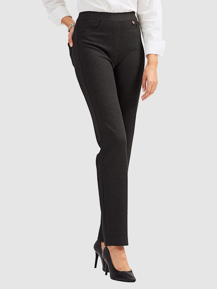 Relaxed by Toni Jerseyhose in Schlupfform, Anthrazit
