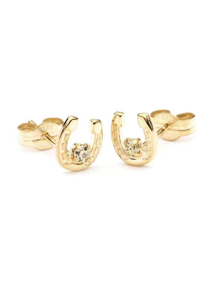 OSTSEE-SCHMUCK Ohrstecker - Hufeisen - Gold 333/000 -, gold