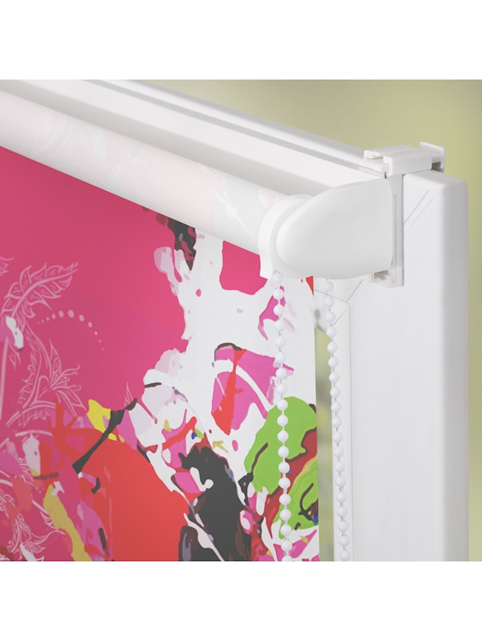 Rollo Klemmfix, ohne Bohren, blickdicht, POMPÖÖS by Lichtblick, Colourful - Rosa