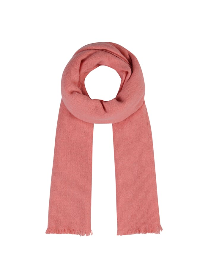 Codello XL-Strickschal aus warmer Wolle, salmon
