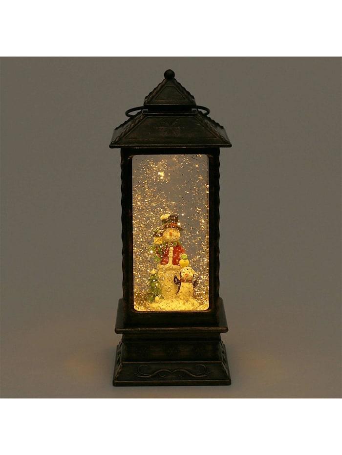 Sigro LED-Laterne mit Schneemann, Bronze