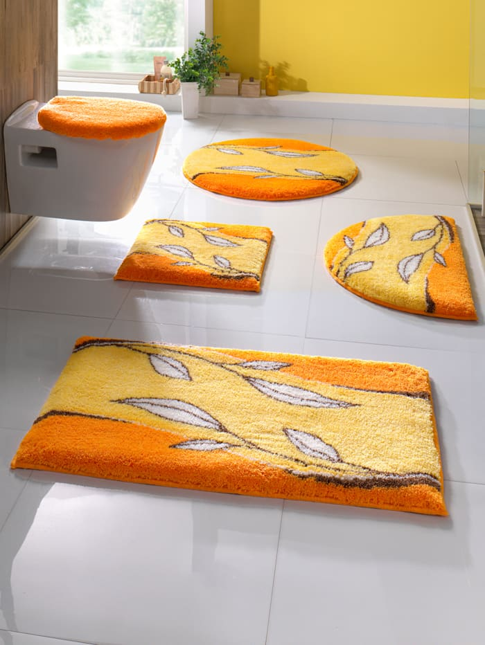 """Grund Kylpyhuoneen matto """"Cala"""", keltainen"""