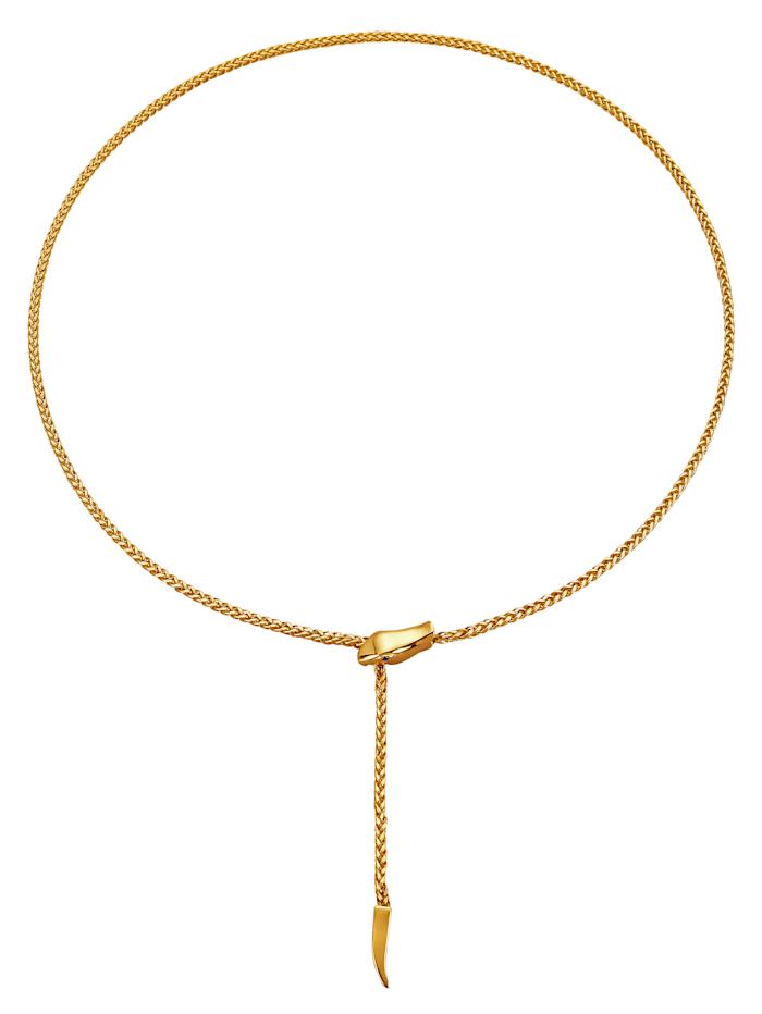 Collierserpent en or jaune 375