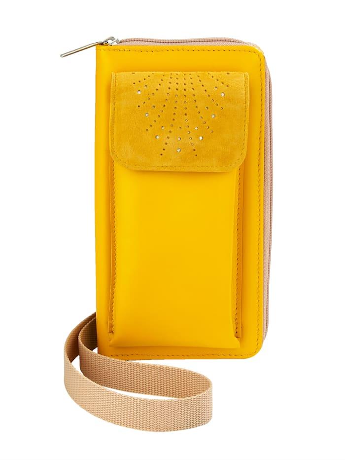 Vamos Telefoontasje incl. portemonnee, geel