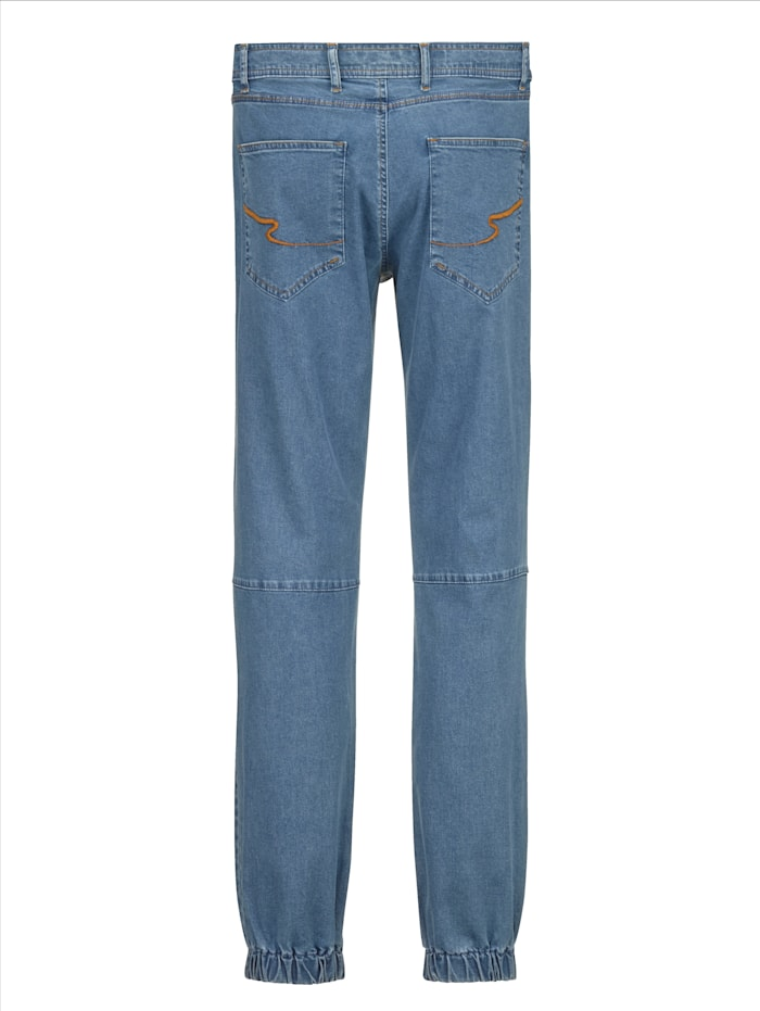 Jeans van zomers licht katoen